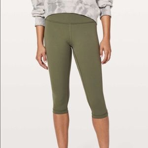 Lululemon wunder under 1/2 tight hi rise sage 2